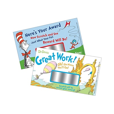 Eureka® Stickers, Dr Seuss™ Scratch Off Rewards, 120/Pack