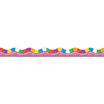 Eureka® Grade Infant - 3 Candy Land™ Dimensional Look Extra Wide Die Cut Deco Trimmer, 12/Pack