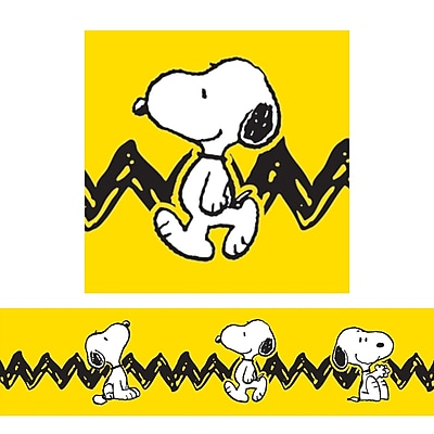 Eureka® Grade Preschool - 8 Peanuts® With Snoopy Deco Trimmer, Yellow, 12/Pack