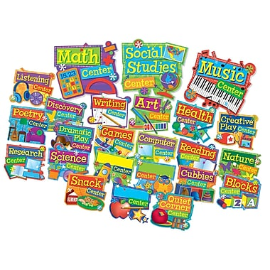 Eureka Hands On Management Mini Bulletin Board Set, Center Signs, 8/Set (EU-847052)