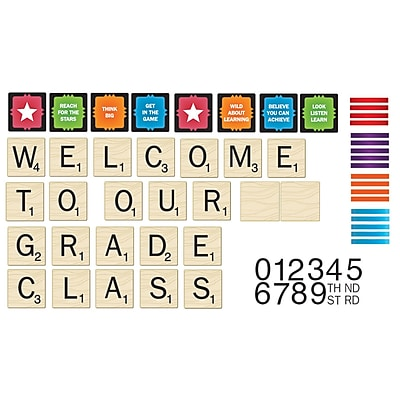Eureka® Mini Bulletin Board Set, Scrabble™ Welcome To Our Class