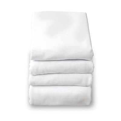 Foundations® SafeFit™ Cotton Compact/Portable Elastic Fitted Sheet, White, 1/Pack