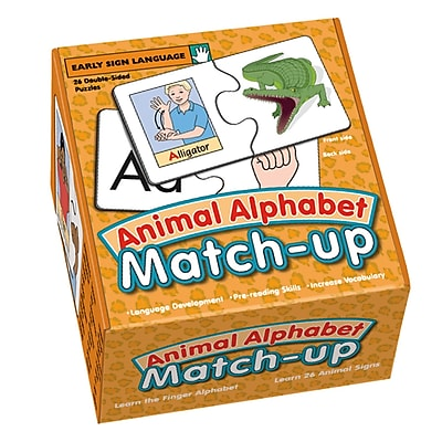 Garlic Press Matchup Puzzle, Animal Alphabet