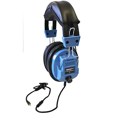 Hamilton Buhl Vcom HECSCAMV Icompatible Deluxe Headset with In Line Microphone, Blue