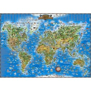 Round World Products Childrens Map Of The World (RWPDM001)