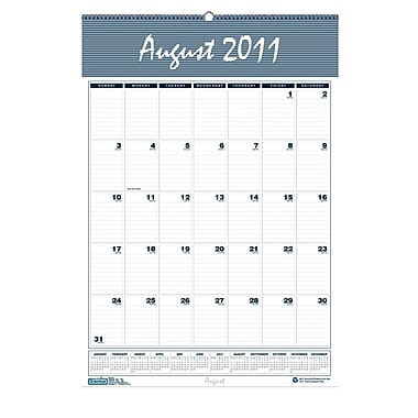 House Of Doolittle 12 Months Wall Calendar, Blank, August-July (HOD352)