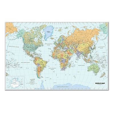 House Of Doolittle® Laminated World Map, 25