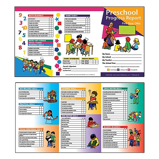Flipside Preschool Progress Report, 10/Pack