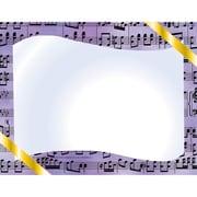 Flipside – Certificat musical bordure en papier d'ordinateur, 30/paquet (H-VA643)
