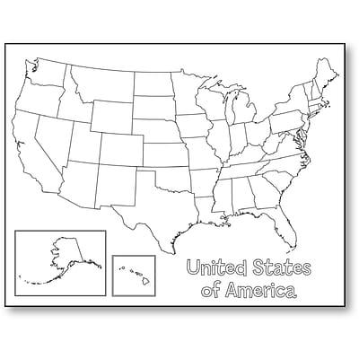 Hygloss 30147 USA Map Poster