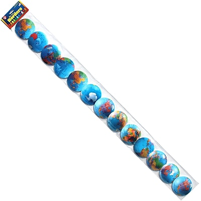 Hygloss Grade Infant - 12 Globes Bright Classroom Border, Blue, 12/Pack