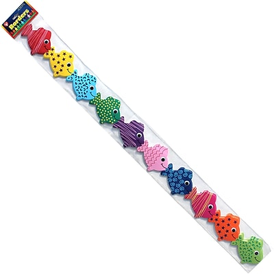 Hygloss Grade Toddler - 6 Classroom Border, Assorted Fish, 12/Pack