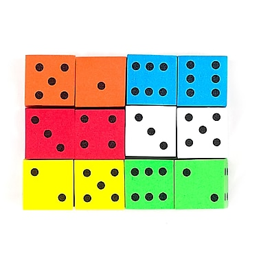 Koplow Games Assorted 16 mm Foam Spot Dice