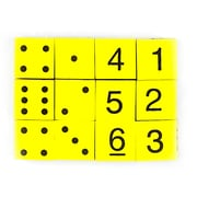 Koplow Games Yellow 16 mm Foam Spot and Number Dice