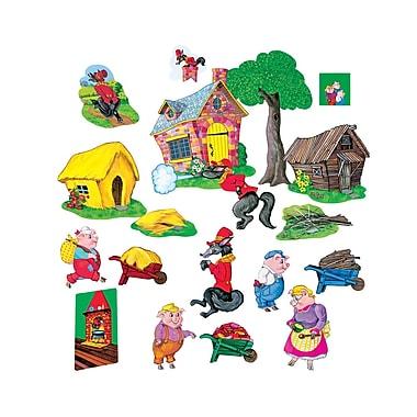 Little Folk Visuals Three Pigs Basic Precut Flannelboard