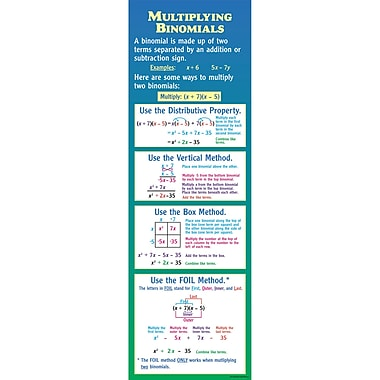 McDonald Publishing Multiplying Binomials Colossal Poster, Math (MC-V1677)