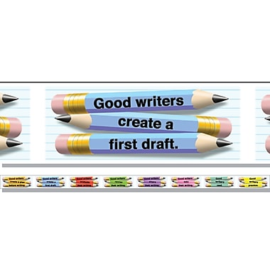 McDonald Publishing Straight Brainy Bulletin Board Border, What Good Writers Do, 12/Pack (MC-Y1548)
