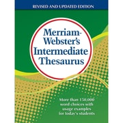 Merriam-Webster Intermediate Thesaurus Resource Book