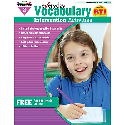Newmark Learning Everyday Vocabulary Intervention Activity Book, Grade 2
