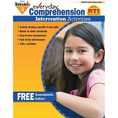 Newmark Learning Everyday Comprehension Intervention Activities Book, Grades 3
