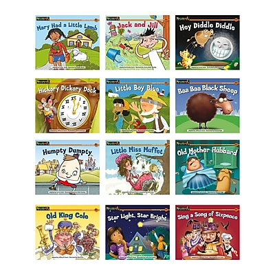 Newmark Learning Rising Readers 12 Titles Nursery Rhyme Tales 1 Single Copy Book Set, 12/Set