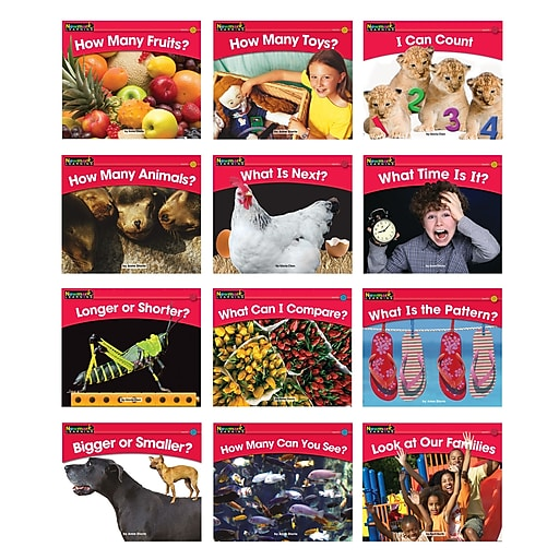 """Newmark Learning """"Rising Readers: Math Volume 1"""" Single Copy Book Set, 12 Titles (NL-0802)"""
