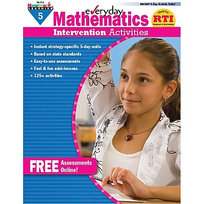 Newmark Learning Mathematics Intervention Activities Book, Grade 5