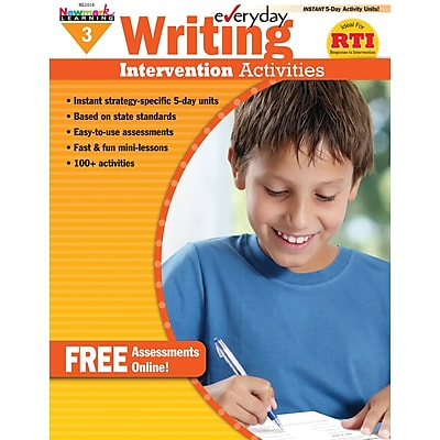Newmark Learning Everyday Writing Intervention Activity Book, Grade 3