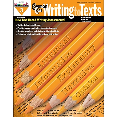 Newmark Learning – Cahier d'exercices d'écriture « Writing To Texts » de tronc commun, 10/paquet