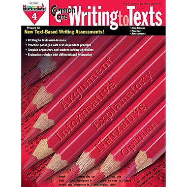 Newmark Learning – Livre « Common Core Practice Writing To Texts », 4e année (NL-2081)