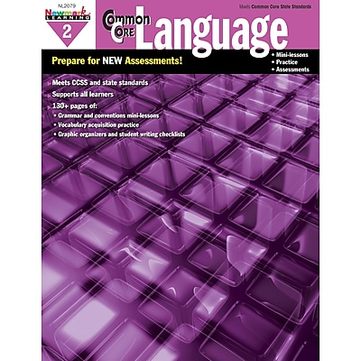 Newmark Learning Common Core Practice Language Activity Book, Grade 2