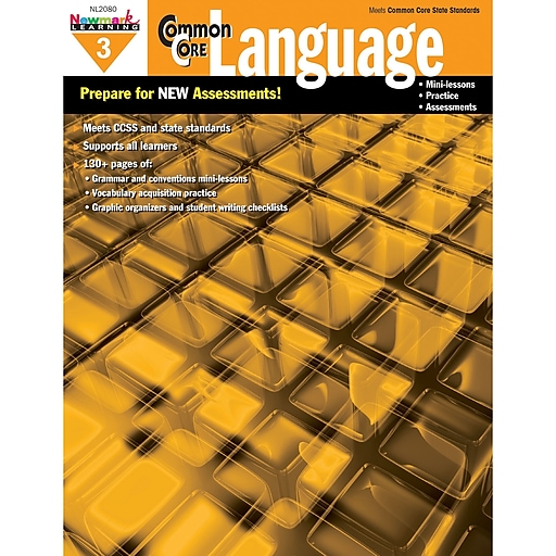 Newmark Learning Common Core Practice Language Activity Book, Grade 3