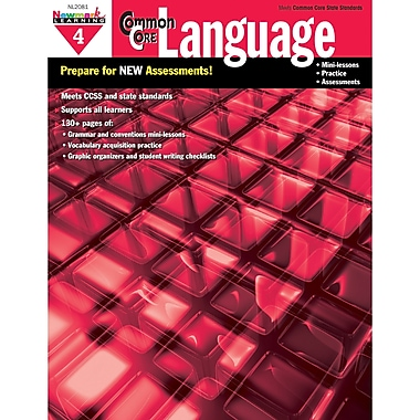 Newmark Learning Common Core Practice Language Activity Book, Grade 4