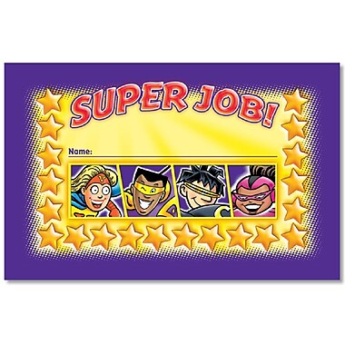 North Star Teacher Resources Superheroes Incentive Punch Cards