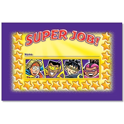 North Star Teacher Resources Superheroes Incentive Punch Cards, 36/Pack