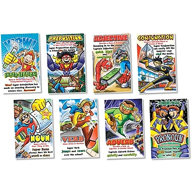 North Star Teacher Resources Parts of Speech Bulletin Board Set, Superheroes
