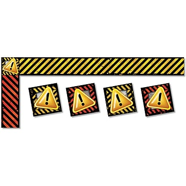 North Star Teacher Resources All Around The World Trimmers, Caution, 12/Pack (NST4238)