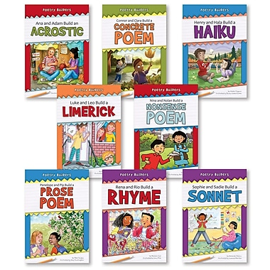 Norwood House Press Poetry Builder Set Of 8 Resource Book, Grade K - 5, 8/Pack (NW-PBPBCS)