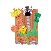 "Roylco R-39100 Multicolor Wild Animal Craft Sticks, 1"" x 7"", 50/Pack"