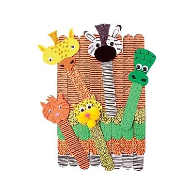 Roylco R-39100 Multicolor Wild Animal Craft Sticks, 1