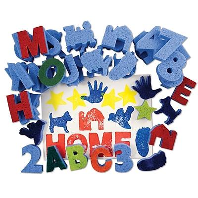 Roylco R-55002 Multicolor Letters Sponges, 3.75