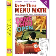 Remedia Drive-Thru Menu Math: Multiply & Divide Money Book, Grades 4 - 6