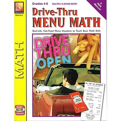 Remedia Drive-Thru Menu Math: Multiply & Divide Money Book, Grades 4 - 6
