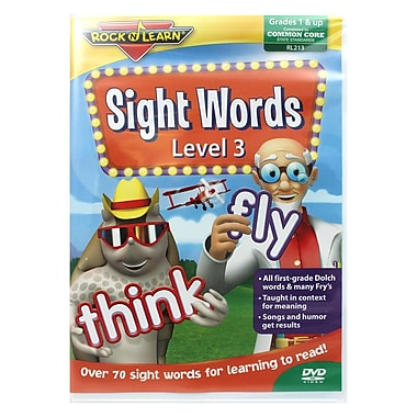 Rock N Learn® Sight Words Level 3 DVD, Grade K - 7