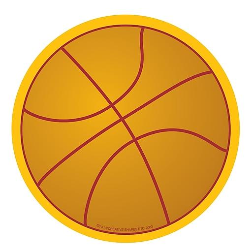 "Creative Shapes™ 5"" x 7"" Large Notepad, Basketball"
