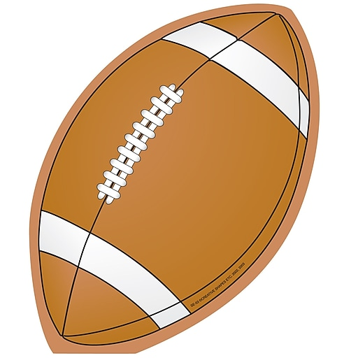 "Creative Shapes™ 5"" x 7"" Large Notepad, Football"