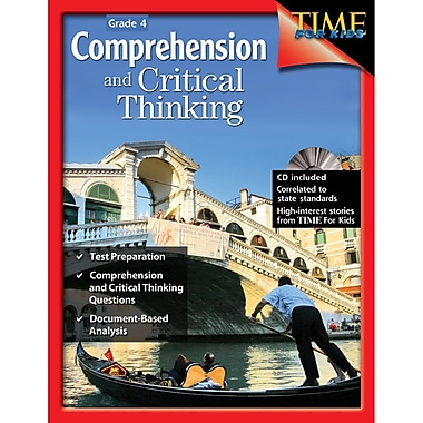 Shell Education Comprehension and Critical Thinking Book, Grade 4