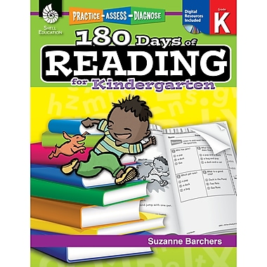 Shell Education – Livre de lecture « Practice, Assess, Diagnose : 180 Days Of Reading Book » pour prématernelle (SEP50921)