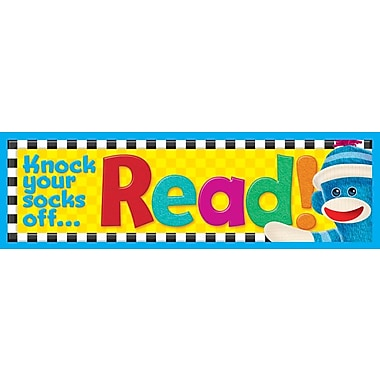 Trend Enterprises® Knock your socks off... Read! Sock Monkeys Bookmarks