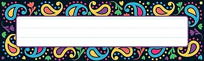 Trend Enterprises® Desk Toppers® PreKindergarten - 9th Grade Name Plate, Perfectly Paisley, 36/Pack